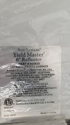 Sun system yield master 6 reflector for Sale in Fort Lauderdale, FL