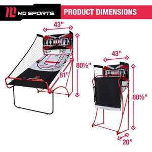 EZ Fold Dual Shot Arcade Basketball Game, Space Saving, LED Scorer, Sound Effects for Sale in Milford Mill, MD
