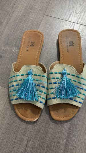Fringe/ Pom Sandals for Sale in Spokane, WA