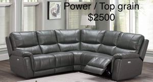 New Top grain Power Recliner Sectional Couch only $50 down payment for Sale in Los Angeles, CA
