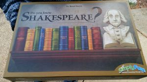 Do you know Shakespeare? Never used Board game for Sale in Vancouver, WA