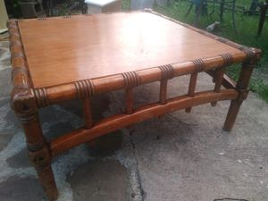 Nice rear solid wood bamboo looking coffee nice rear solid wood bamboo looking coffee table good condition asking 120 or best offer for Sale in Houston, TX
