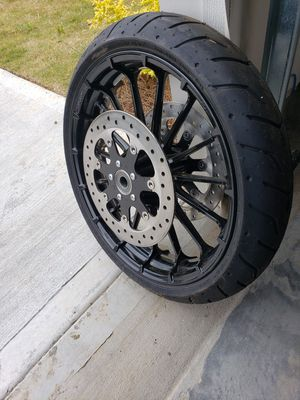 19inch Front Harley Davidson rim/wheel/ rotor for Sale in Atlanta, GA