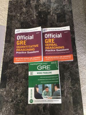 GRE & Manhattan PREP BOOKLETS for Sale in Elgin, SC