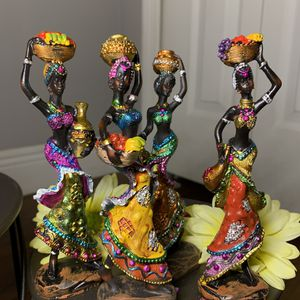 Home Decor Of Beautiful African Women Figurines. for Sale in Hialeah, FL