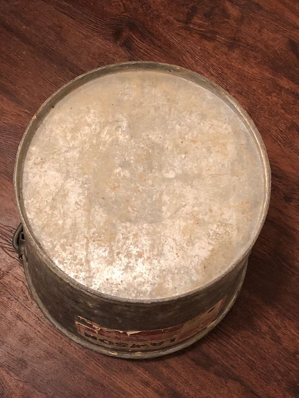 Vintage Lawson Co. Galvanized Metal Bucket