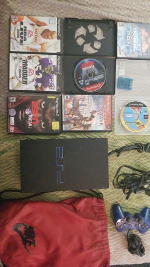 Sony playstation 2 with 7 games for Sale in Hampton, VA