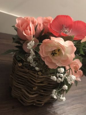 Artificial flower plant pink for Sale in Herndon, VA