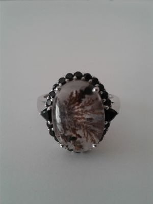 Collectors Item: Rare Rutilated Quartz Ring, Size 8, Platinum over Sterling Silver for Sale in Woodbridge, VA
