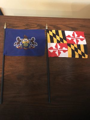 Mini Pennsylvania and Maryland Desk Flags for Sale in Centreville, VA