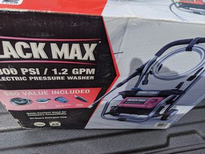 Black Max 1800 PSI 1.2 gm.n electric pressure washer for Sale in Phoenix, AZ