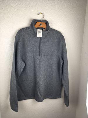 $90 NWT Mens Michael Kors MK Big Logo 1/4 Zip Fleece Pullover Sweatshirt Gray size L for Sale in Kissimmee, FL