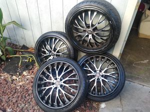 Nice wheels with good rubber on them for Sale in Stockton, CA