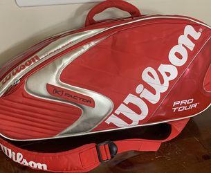 Wilson Pro Tour Tennis Bag K Factor Moisture Guard Thermal Carrying Case Red for Sale in Atlanta,  GA