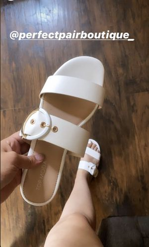 White sandals with buckle for Sale in Bakersfield, CA