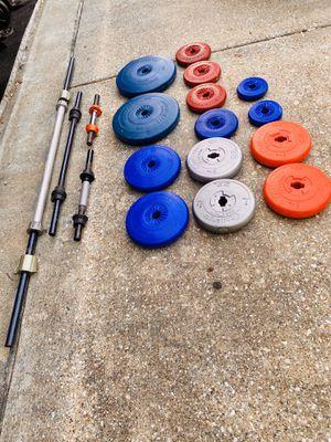 weight set 2=25 pounds 2=10 pounds 4=8.8 pounds 4=5 pounds 2=2.2 pounds for Sale in Dallas, TX