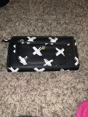 Women's wallet black with white x's and pink inside for Sale in Mount Prospect, IL