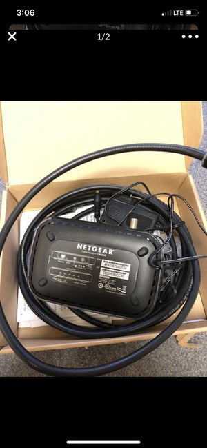 Netgear cable modem CM400 with coax cable for Sale in Seattle, WA