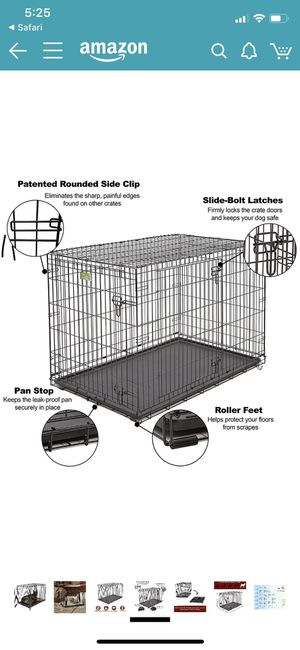 New - MidWest iCrate Fold & Carry Double Door Collapsible Wire Dog Crate, 48 inch for Sale in Frederick, MD