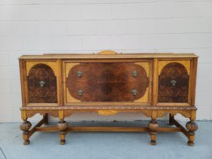 Spanish vintage console media entryway buffet table for Sale in Huntington Beach, CA