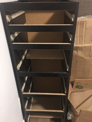 IKEA Shelf w/drawers & mirror Espresso color for Sale in Boston, MA