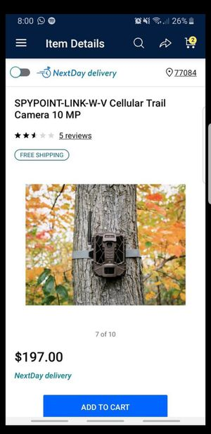 SPYPOINT-LINK-W-V Cellular Trail Camera 10 MP for Sale in Houston, TX