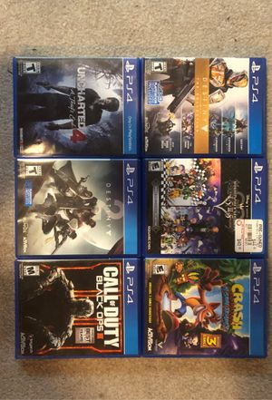 Gently used PS4 Games for sale (20$ each) for Sale in Oregon City, OR