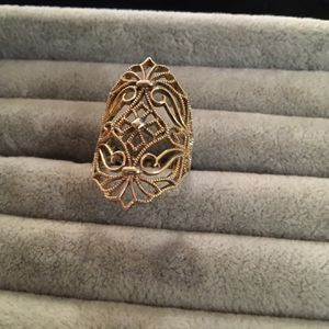 Gold/925 Open Scrollwork Ring for Sale in Glen Burnie, MD