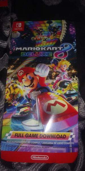 Mario Kart 8 Deluxe Digital Download Code Never Scratched Off for Sale in Stockton, CA