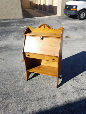 """Antique Solid Oak Wood Secretary Desk made by the Paris Manufacturing Company that is in excellent condition! Dimensions: 25""""W x 42""""H x 12""""D/22""""D Open for Sale in Delray Beach, FL"""