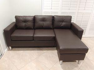 Convertible Espresso Couch/Sofa for Sale in Boca Raton, FL