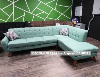REAL SHOWROOM 😁 WE FINANCE - LAGUNA L SHAPE MID CENTURY STYLE COUCH SOFA SECTIONAL COUCHES for Sale in Los Angeles,  CA
