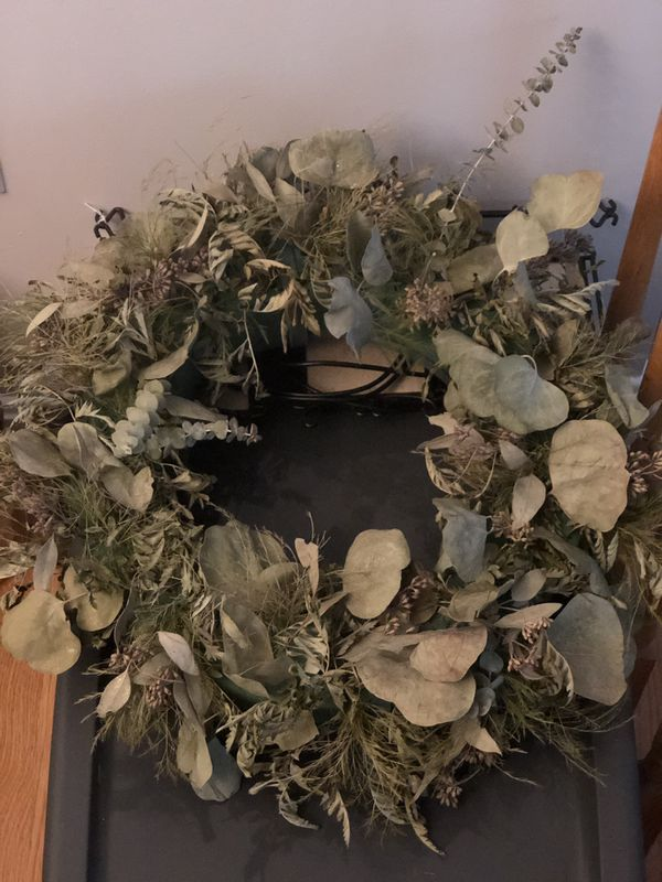 3 mixed greens wreaths