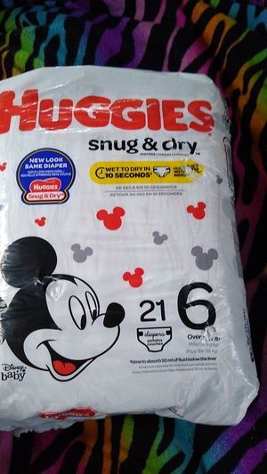 Huggies size 6 21 dippers for Sale in Keizer, OR