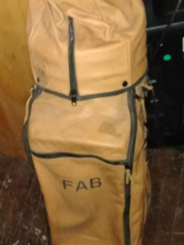 Fab leather golf bag and drivers