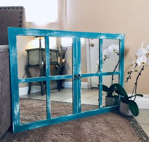 Farmhouse style decorative window mirror for Sale in Henderson, NV