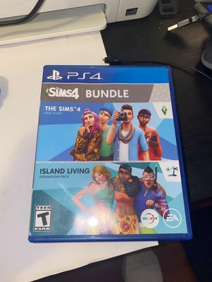 PS4 Sims4 Bundles Base game & Island Living Expansion pack for Sale in Darby, PA
