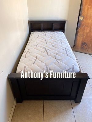 Twin bed & bamboo mattress for Sale in Lynwood, CA