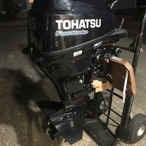 15 hp Tohatsu 4 stroke short shaft 2015 low hours for Sale in San Jose, CA