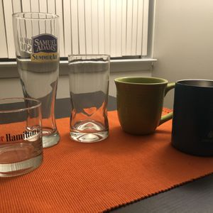 Set of 2 glasses and 2 mugs for Sale in Arlington, VA
