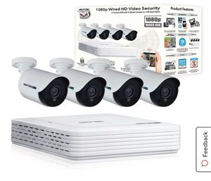 Night Owl 4 Channel 1080p DVR with 4 x 1080p Cameras and 1 TB HDD for Sale in Los Angeles, CA
