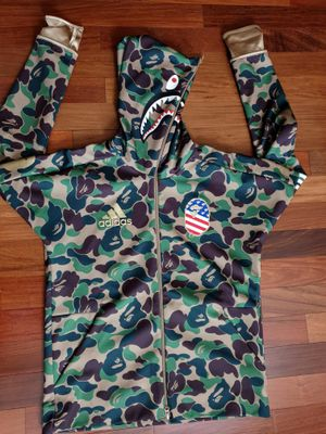 Bape x Adidas Camo Superbowl Hoodie Size L for Sale in Perris, CA