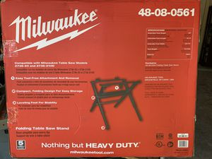 Milwaukee Compact Folding Table Saw Stand - NEW IN BOX for Sale in Spring, TX