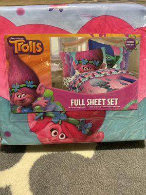 Brand new Trolls Full Sheet set for Sale in Bakersfield, CA