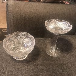Crystal Glass Candy Dish for Sale in Chevy Chase,  MD