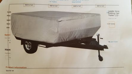 Pop up/Fold up camper Cover for Sale in Vancouver,  WA