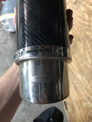 Delkevic carbon fiber slip on for Sale in St. Louis, MO