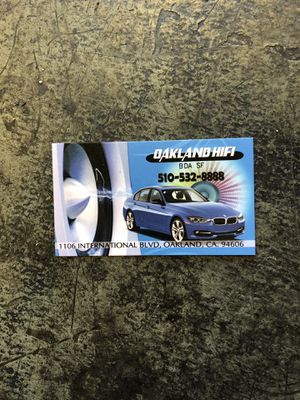 Window tinting and car audio for Sale in Oakland, CA