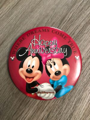 Walt Disney Happy Anniversary Button / Pin for Sale in Fort Lauderdale, FL