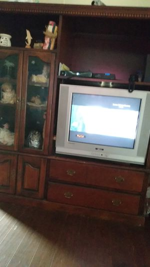 Solid cherry wood entertainment center. Very heavy. for Sale in Easley, SC